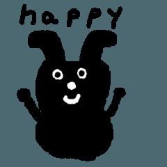 Black rabbit kuro usagi