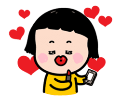 Mobile Girl, MiM - v2 sticker #12268864