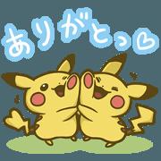 สติ๊กเกอร์ไลน์ Pokemon Thank you Sticker