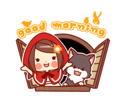 Little Red Riding Hood & Wolf Animated sticker #12280382