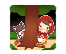 Little Red Riding Hood & Wolf Animated sticker #12280387