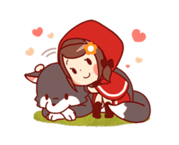 Little Red Riding Hood & Wolf Animated sticker #12280397