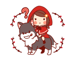 Little Red Riding Hood & Wolf Animated sticker #12280400