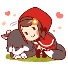 Little Red Riding Hood & Wolf Animated