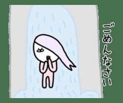Human hair of lilac sticker #12282163