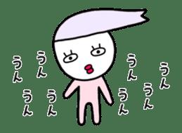 Human hair of lilac sticker #12282174