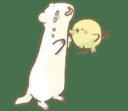 BELLE the WEASEL & Melted Bird MOLT sticker #12306390