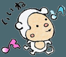 (j)Cute monkey, Sarumu sticker #12319935