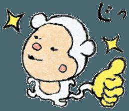 (j)Cute monkey, Sarumu sticker #12319938