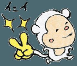 (j)Cute monkey, Sarumu sticker #12319939