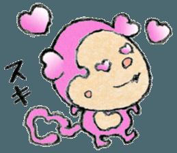 (j)Cute monkey, Sarumu sticker #12319943