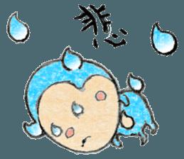 (j)Cute monkey, Sarumu sticker #12319948