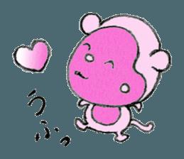 (j)Cute monkey, Sarumu sticker #12319954