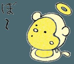 (j)Cute monkey, Sarumu sticker #12319956