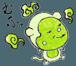 (j)Cute monkey, Sarumu sticker #12319957