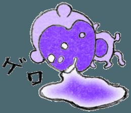 (j)Cute monkey, Sarumu sticker #12319961