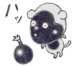 (j)Cute monkey, Sarumu sticker #12319962