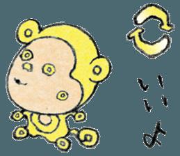 (j)Cute monkey, Sarumu sticker #12319970