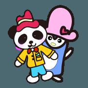สติ๊กเกอร์ไลน์ Daily penguin and panda