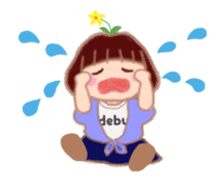 Fat Girl Deburin 3 animation sticker #12324791