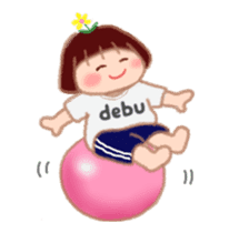 Fat Girl Deburin 3 animation sticker #12324802
