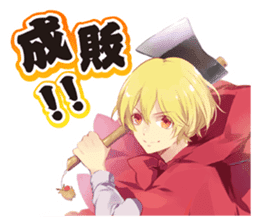 """TSUKIUTA."" meigen stickers sticker #12334730"