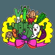 สติ๊กเกอร์ไลน์ Vegetable love and friendship