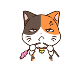 Fat cat DukDik + sticker #12339641