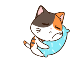 Fat cat DukDik + sticker #12339642