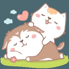 สติ๊กเกอร์ไลน์ เบโป้ & โคโค่ : ไอ้ต้าวความรัก
