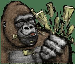 Gorilla gorilla 3 sticker #12354139