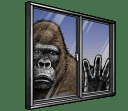 Gorilla gorilla 3 sticker #12354144
