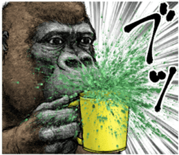 Gorilla gorilla 3 sticker #12354155