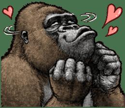 Gorilla gorilla 3 sticker #12354156