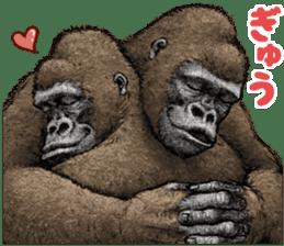 Gorilla gorilla 3 sticker #12354157