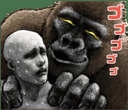 Gorilla gorilla 3 sticker #12354167