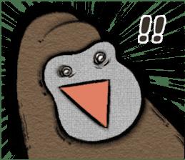 Gorilla gorilla 3 sticker #12354169