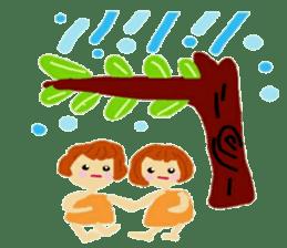 Family of Primitive man sticker #12367874