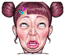 funny face Collection sticker #12376943