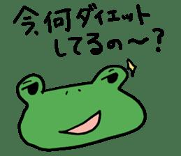 Diet of the frog sticker #12383310