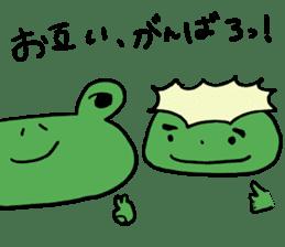 Diet of the frog sticker #12383317
