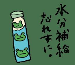 Diet of the frog sticker #12383318