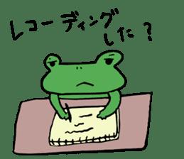 Diet of the frog sticker #12383320