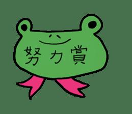 Diet of the frog sticker #12383324