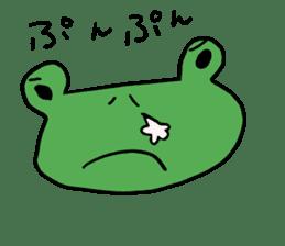 Diet of the frog sticker #12383327