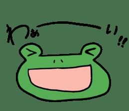 Diet of the frog sticker #12383329