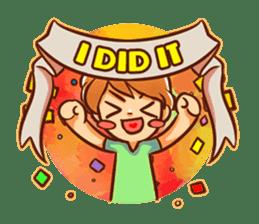 Color Drops : Encouragements sticker #12388805