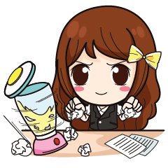 Hard Working Office Girl+