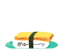 Revolving sushi by moving and dancing sticker #12395056