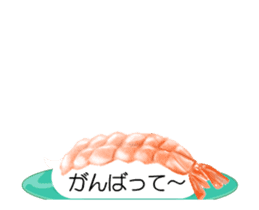 Revolving sushi by moving and dancing sticker #12395060